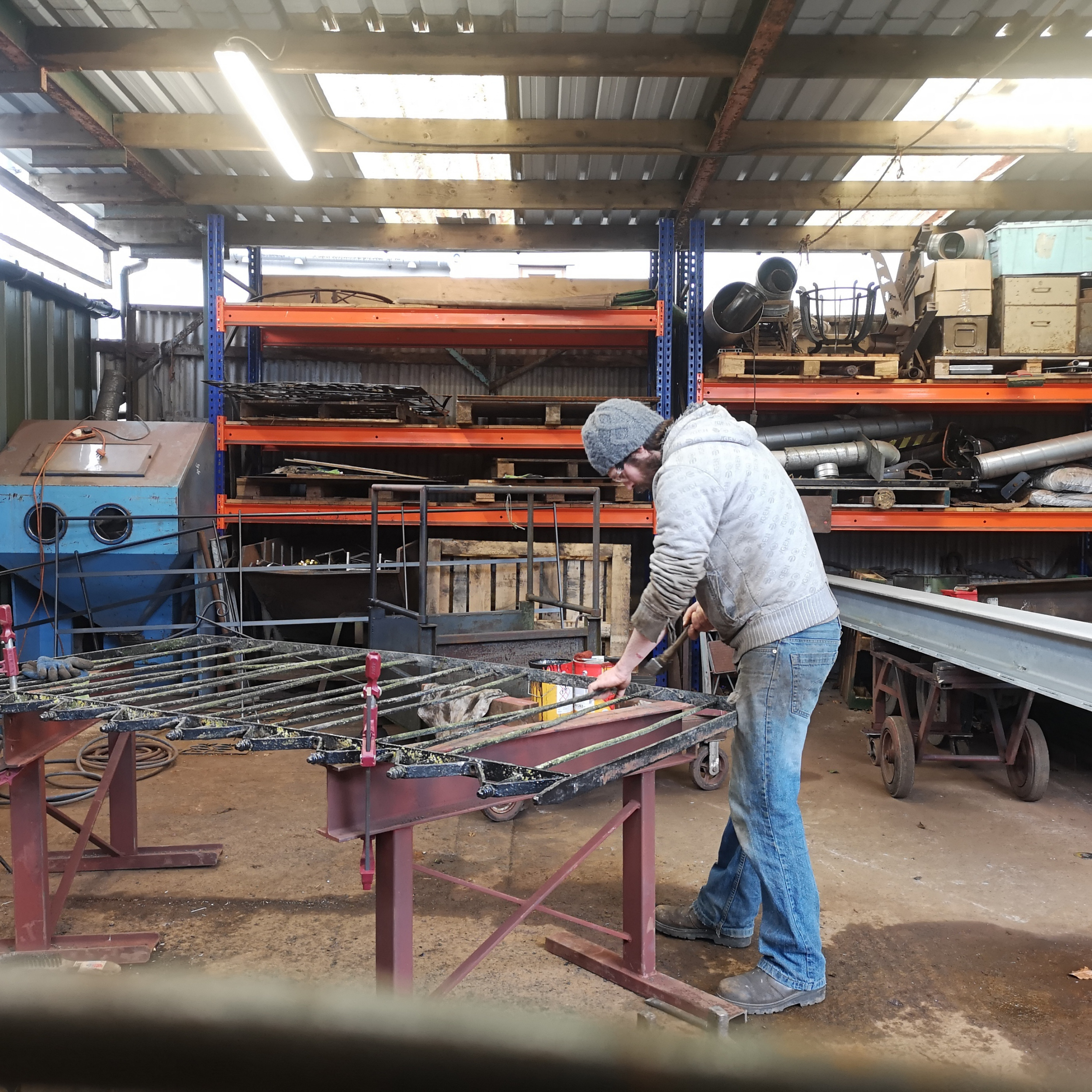 Restoring a traditional set of wrought iron railings