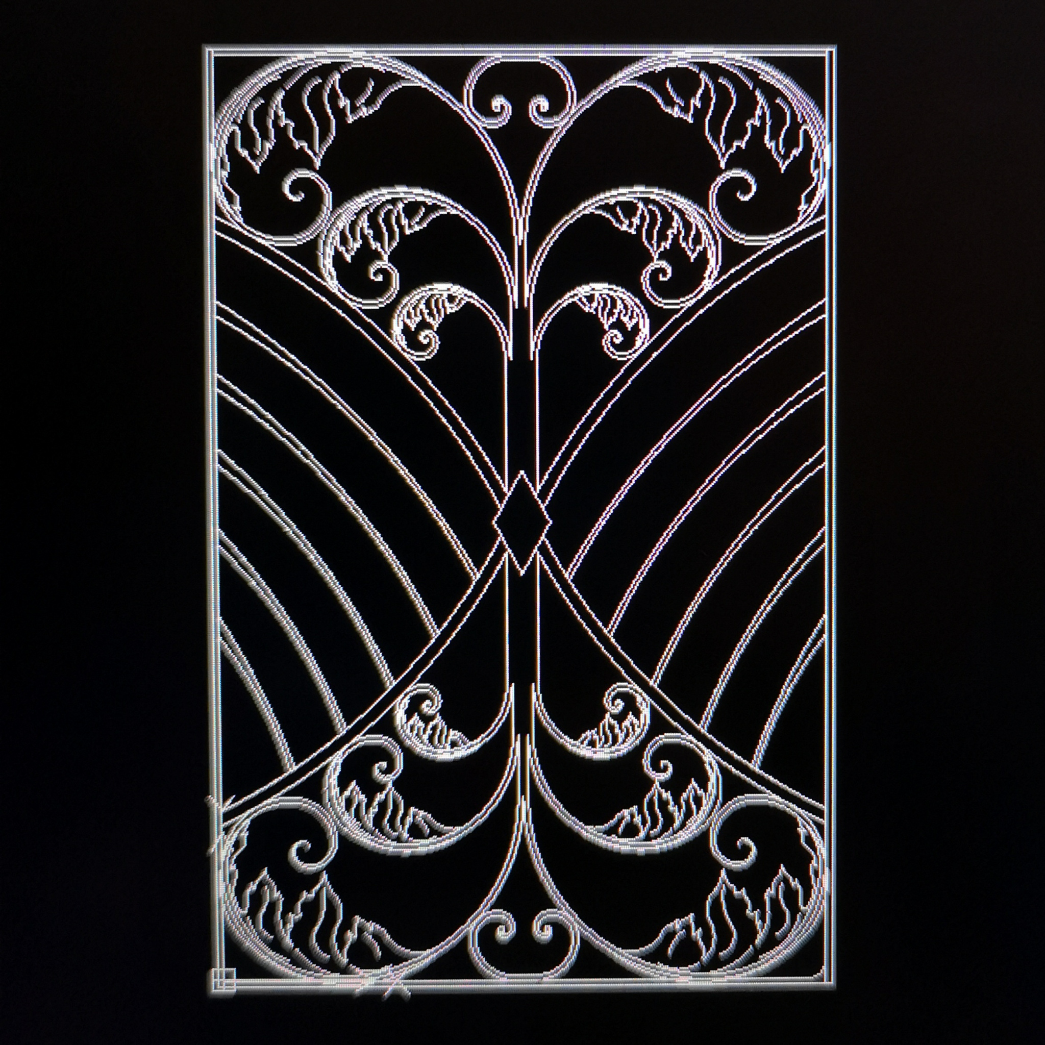 CAD drawing of a gate by Blue Jay Metal Crafts